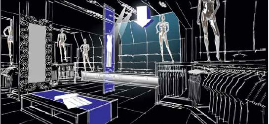 iluminación de cajas retail comercio Iluminacion en retail Leds c4
