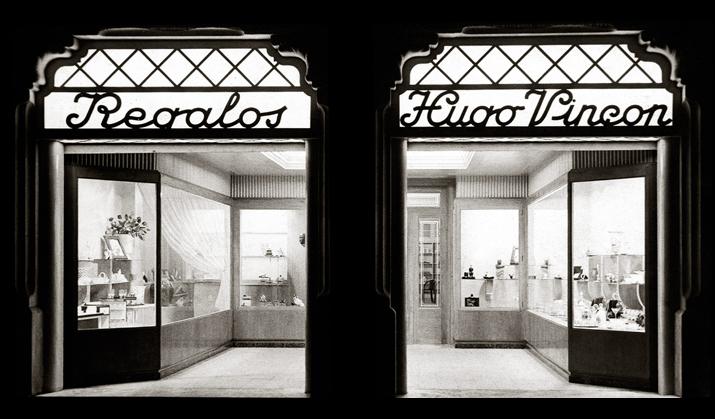 Regalos Hugo Vinçon 1941-1950  Vincon Barcelona,  una tienda con historia