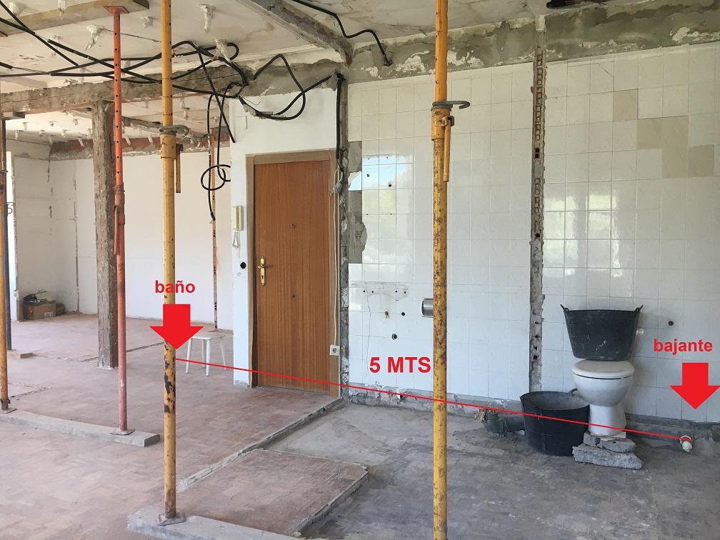 instalacion sanitrit 1 sanipro distancia a bajante . Instala un baño donde quieras
