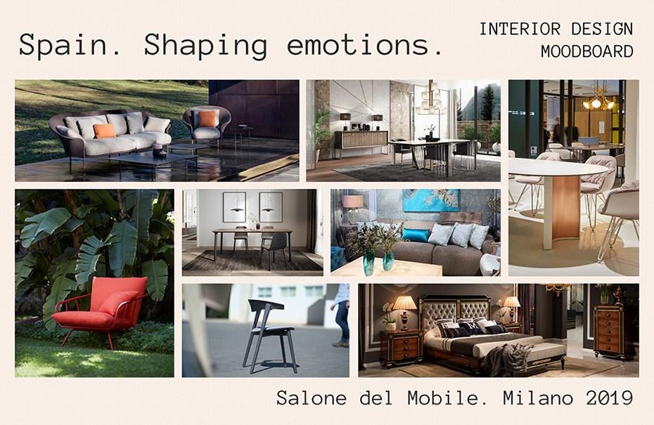 interior-moodboard mueble español en Salone del Mobile Milan 2019