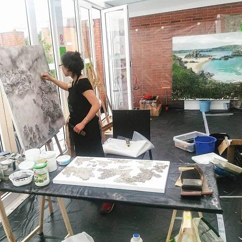 simposio internacional de artistas Sianoja 2018. JOO EUN BAE