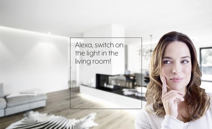 jung visu pro interfaz knx y control de voz Alexa