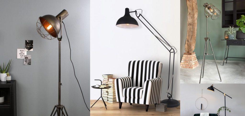 lamparasenlinea.es lamparas de pié originales vintage, industrial, retro, lamparas negras 1