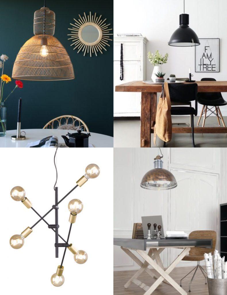 lamparasenlinea.es suspensión de techo originales vintage, industrial, retro, lamparas negras 1