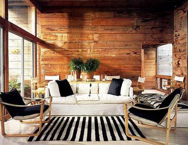 Madera Blanco Negro Salon 10decoracion - Salon-madera