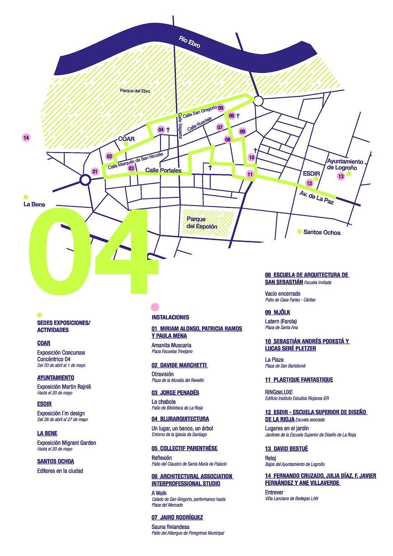 mapa concentrico logrono instalaciones en la ciudad 2018