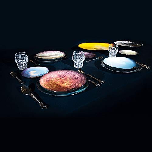 mesas de Navidad originales. Platos cosmic dinner de seletti