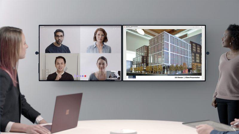 Pizarra interactiva microsoft Surface Hub 2S . Como transformar cualquier lugar en un espacio colaborativo de trabajo-