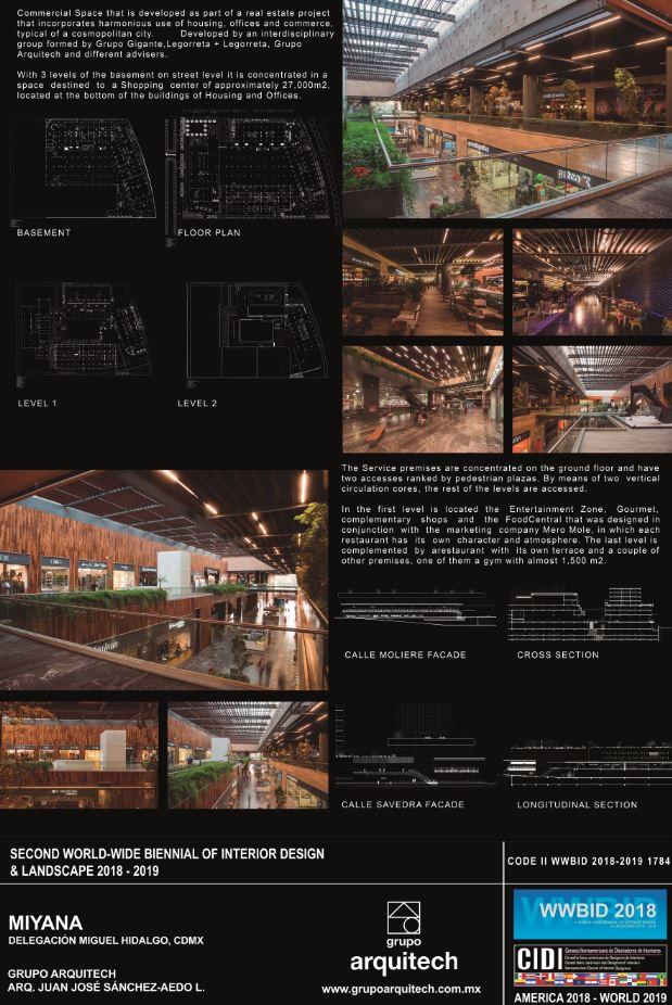 Miyana – Grupo Arquitech Medalla de Oro Bienal Iberoamericana Cidi de interiorismo, diseño y paisajismo WWBID 2018 interior design and landscape
