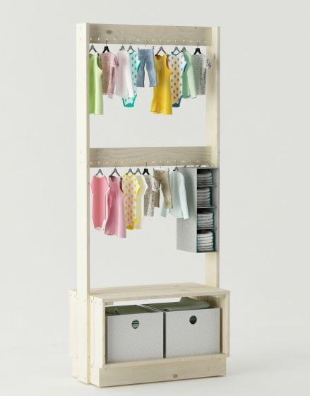 muebles nuevos lufe . Colgador de ropa en madera barato. Burro de ropa en muebles lufe el ikea vasco