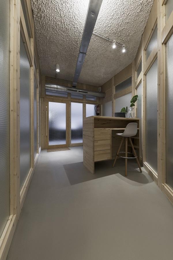 nan arquitectos centro de yoga y pilates SANASANA vestibulo