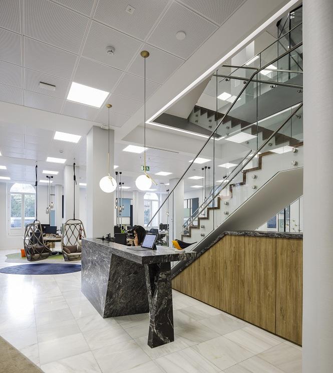nuevas oficinas sostenibles INTU en el Paseo de la Castellana de Madrid entrada