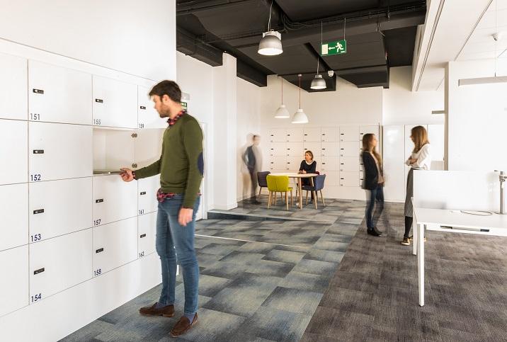oficinas British telecom en Madrid. Proyecto workplace 3g office 4. moqueta milliken carpet