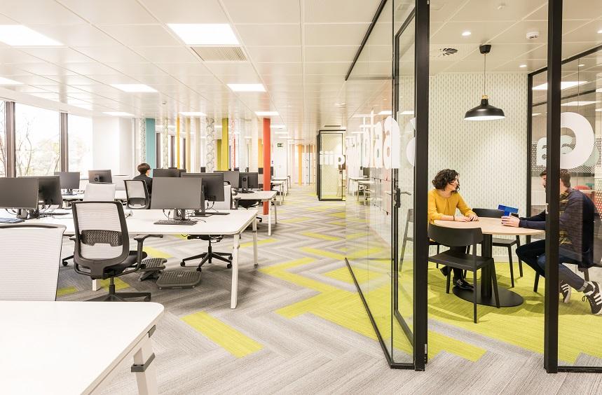 oficinas banco wizink en madrid espacios flexibles