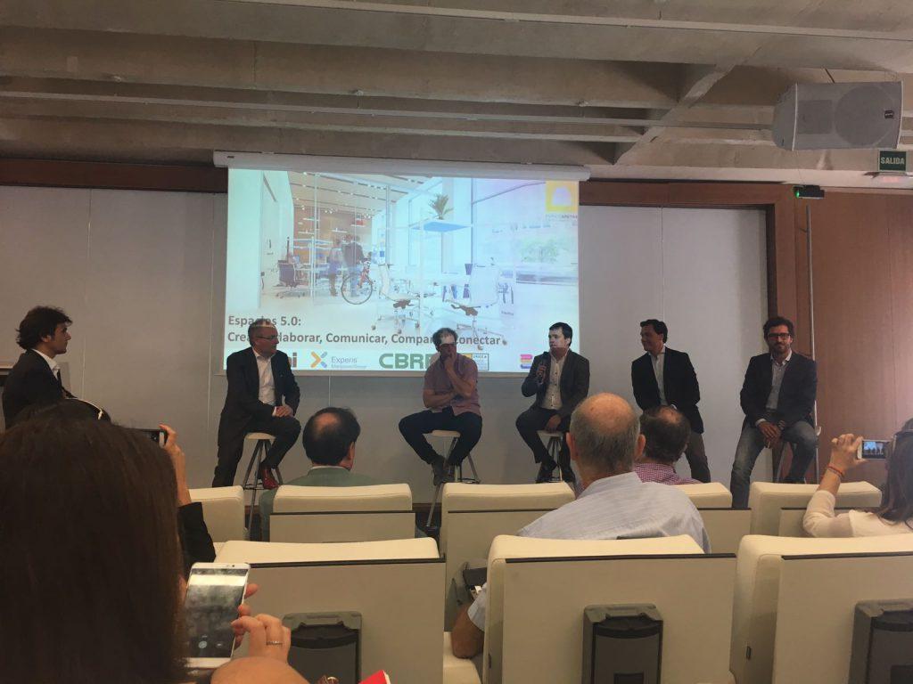 panel de expertos COAM espacio aretha oficinas del futuro