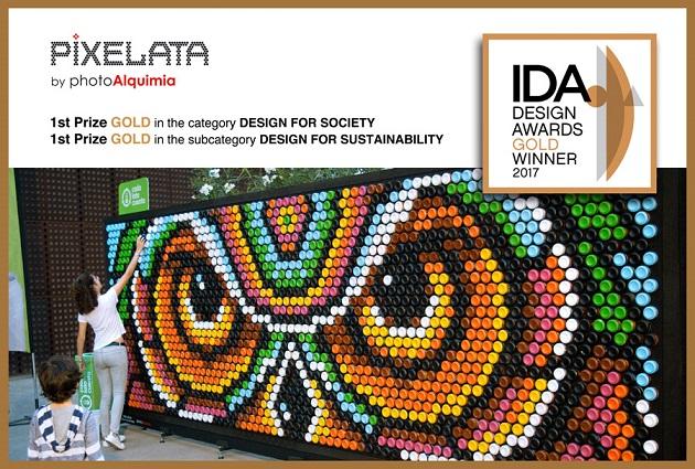 photoAlquimia_PIXELATA_GOLD-Winner . Reciclaje con latas