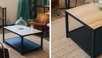 Tips para decorar mesas de centro de madera natural