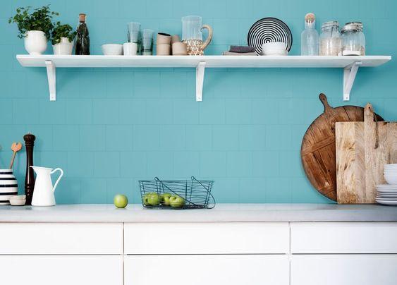 pintar azulejo cocina. Azul Pacifico de bruguer