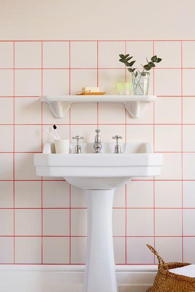 pintar azulejos del baño. Juntas en color