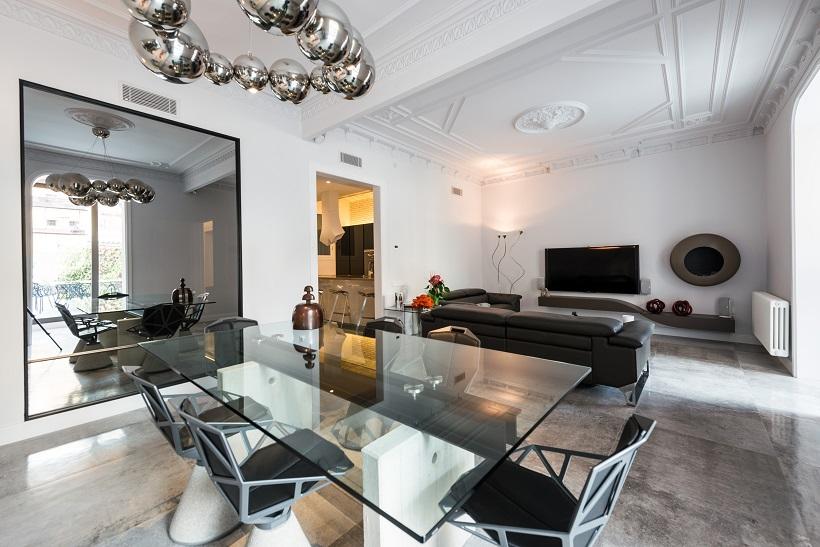 piso Ensanche de Barcelona diseño de SINCRO. Salón comedor ...