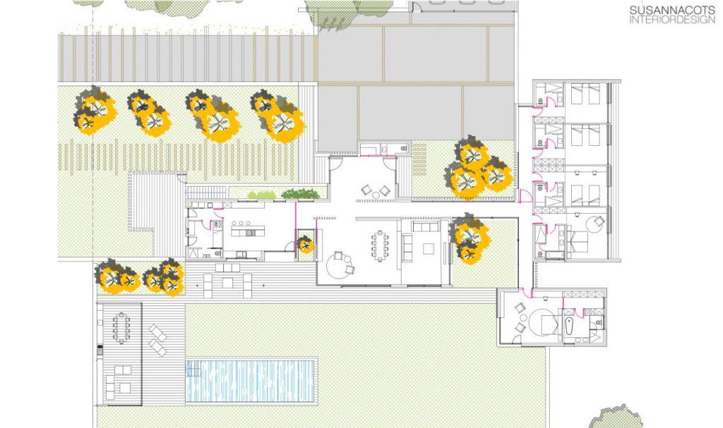 planimetria proyecto slow design susanna cots Oxygen .SUSANNA COTS OXYGEN SLOW DESIGN . Casa en el Ampurdán.
