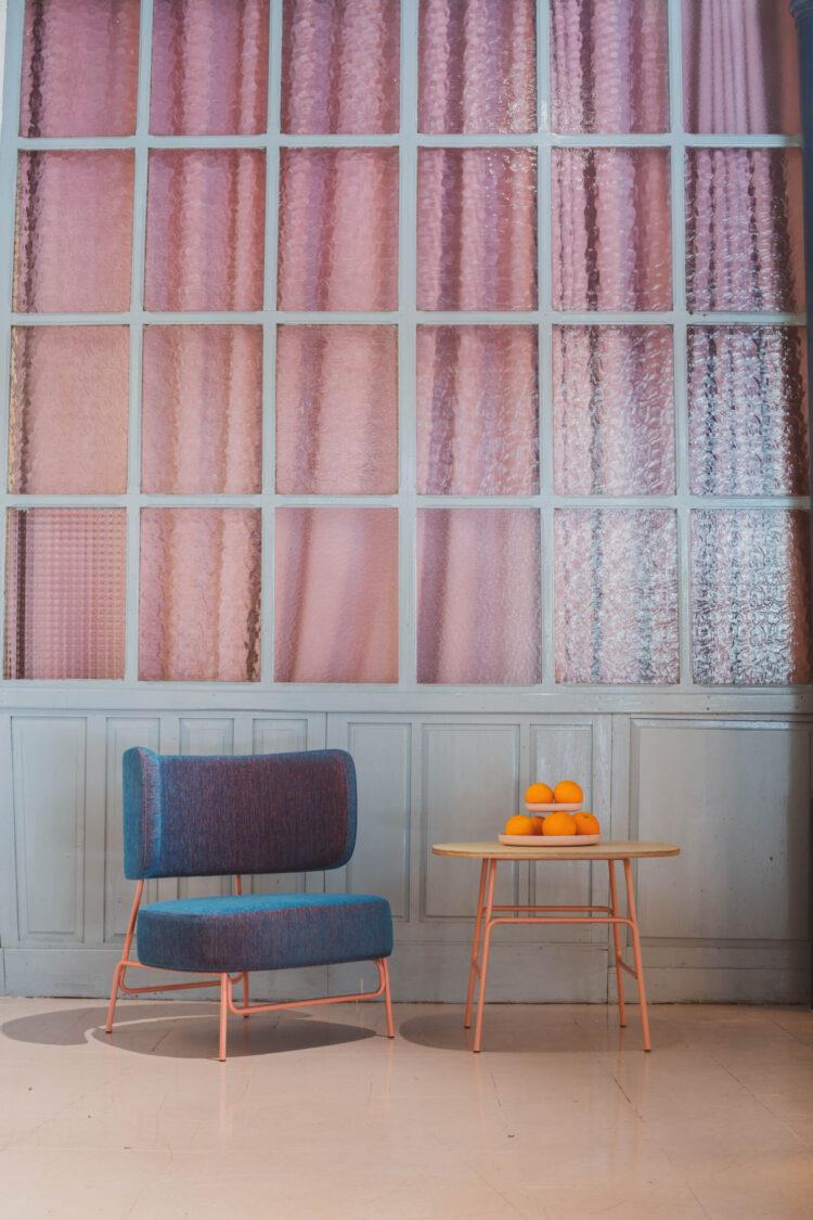 presentaction de mobiliario annud en welcome room de madrid . KAPOOR by Santiago Sevillano Studio