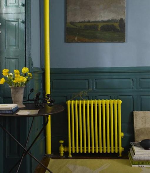 radiador-amarillo Cómo disimular un radiador