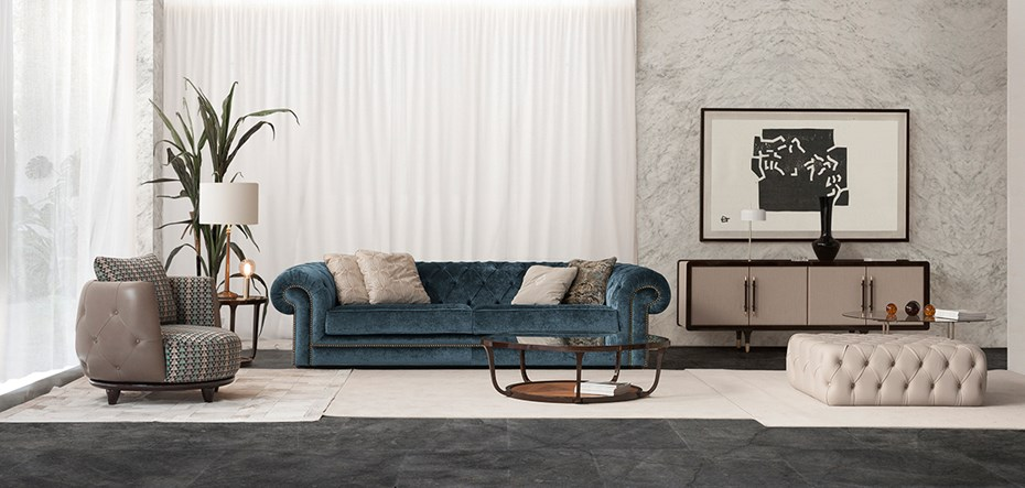 salone del mobile mIlano 2018. Feria del Mueble de Milan 2018 tecni-nova-fortune-ii-collection-1735-chester-blue-sofa