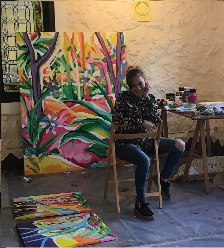sandra suarez @artedemirar artista de Sianoja 2017