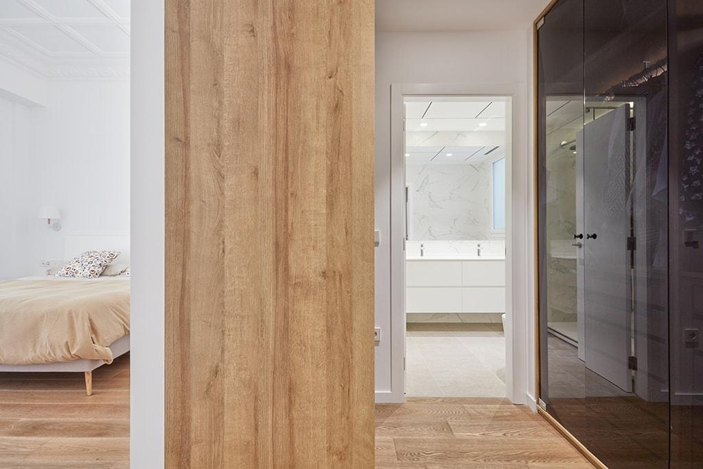setrabe arquitectura valencia. reforma vivienda en ruzafa. Dormitorio y vestidor