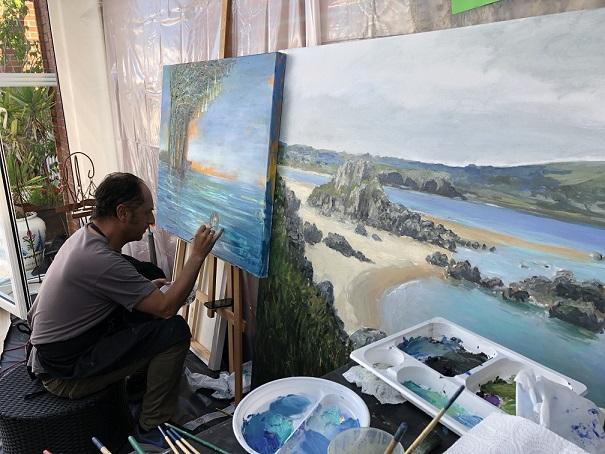 simposio internacional de artistas Sianoja 2018.Lorenzo Moya .Chile