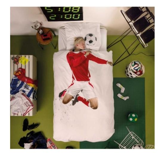 snurk cubierta de duvet futbolista. Edredon de futbol