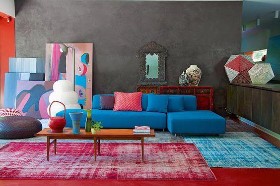 sofá de Patricia urquiola en casa de Patrizia Moroso.