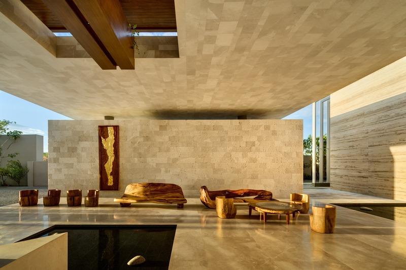 solaz los cabos sordo madaleno arquitectos. Cesar Lopez Negrete escultura Solaz Los Cabos. Sordo Madaleno Arquitectos. Foto Rafael Gamo
