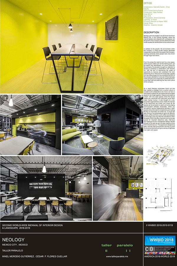 taller paralelo Medalla de Oro Bienal Iberoamericana Cidi de interiorismo, diseño y paisajismo WWBID 2018 interior design and landscape