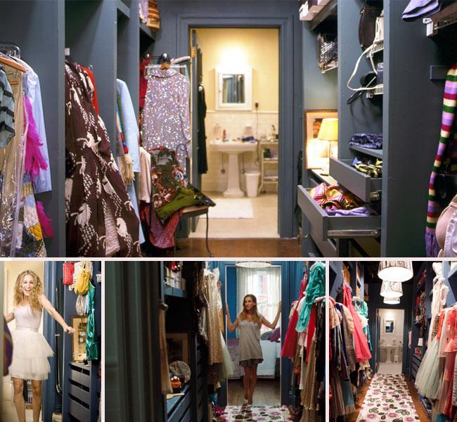 Organiza un vestidor a tu medida.. Vestidor de Carrie Bradshaw de Sexo en Nueva York